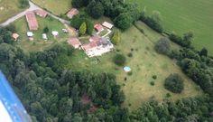 Foto van hondencamping La Soupeze vanuit de lucht.