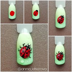 Heat Up Your Life with Some Stunning Summer Nail Art 3d Nail Art, Fruit Nail Art, Nail Art Hacks, Animal Nail Designs, Nail Art Designs Videos, Animal Nail Art, Ladybug Nail Art, Butterfly Nail Art, Really Cute Nails