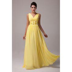 Žlté večerné šaty Eumelia
