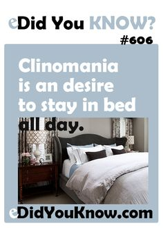 Clinomania is an desire to stay in bed all day, close to of people experience this on a daily basis. I think I am part of that. The More You Know, Good To Know, Did You Know, True Facts, Funny Facts, Random Facts, Insomnia In Children, Cool Science Facts, Sleep Quotes