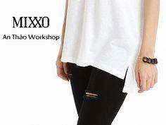 An Thảo Workshop*MI1512 - ÁO THUN MIXXO FORM DÀI NĂNG ĐỘNG.Chất vải mịn, dày dặn, không xù lông, sẽ khiến ngay cả cô nàng có làn da kén chọn chất liệu nhất, cũng sẽ yêu thích. Màu: trắng, hồng nhạt (như hình).Chất liệu: 100% Cotton.Size: S, M.»» ☎ HOTLINE: 0949790708 »» ☀ MUA SỈ: 0949804858»» LINKFACEBOOK: https://www.facebook.com/Anthaoworkshop.