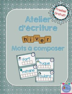 Mme Émilie: Freebie! Mots de l'hiver Education And Literacy, French Education, Kindergarten Literacy, School Age Activities, Winter Activities, Numeracy Activities, French Teaching Resources, Teaching French, Winter Words