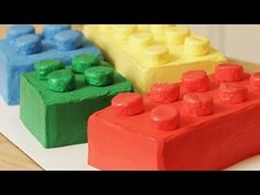 HOW TO MAKE A LEGO CAKE - NERDY NUMMIES - YouTube