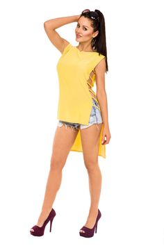 Cool Bluzka Model 1447 Yellow - Vein