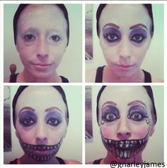 Crazy Tooth Fairy #facepaint #bodyart #makeupbymarley