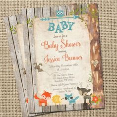 Hey, I found this really awesome Etsy listing at https://www.etsy.com/listing/239576704/rustic-woodland-animals-baby-shower