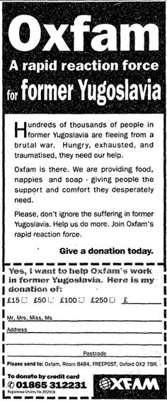 Oxfam. 15 August, 1995