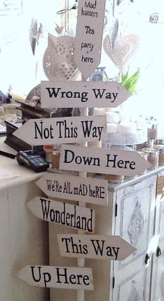 Wonderland Signs | Party Decorations | Alice in Wonderland Party Ideas | Collected by Kit & Caboodle Parties