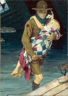 A Scout is Helpful, 1939  Norman Rockwell (American, 1894-1978)