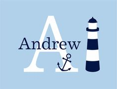 Nautical Wall Decal  Initial and Name by fivestarsigns on Etsy, $42.00 - Look, it's already made for us! :)