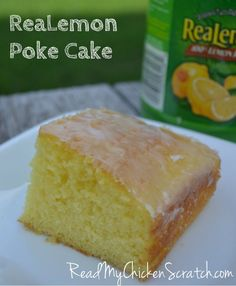 An oldie but a goodie. This isn't the jello poke cake. S… Lemon Poke Cake. An oldie but a goodie. This isn't the jello poke cake. Super simple and oh so good! Lemon Desserts, Lemon Recipes, Just Desserts, Delicious Desserts, Yummy Food, Summer Desserts, Fall Recipes, Sweet Recipes, Healthy Food