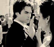 I know this is is when her heart first opened up to Damon. Almost touching him had more electricity than the eye sex (: