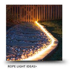 21 ideas for cheap backyard patio money Backyard Lighting, Outdoor Lighting, Outdoor Decor, Lighting Ideas, Rope Lighting, Diy Patio, Backyard Patio, Patio Ideas Rock, Backyard Ideas