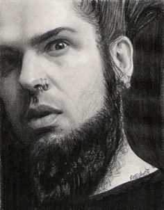 One can never have too much Wayne in their gallery. This is just a really little, crappy, quick drawing of Wayne. Wayne Static, Static X, Thy Art Is Murder, White Zombie, Nu Metal, Music Artwork, Pencil Portrait, Bands, Slipknot