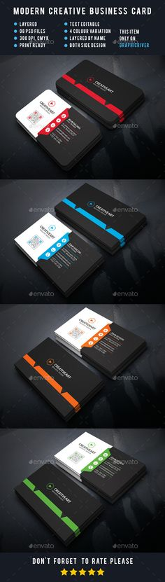 Creativeart Business Cards Template #design Download: http://graphicriver.net/item/creativeart-business-cards/12392447?ref=ksioks