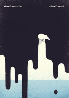 A little contribution for Greenpeace. This illustration is focused on the risks of oil drilling in the Arctic Ocean. External Link: Save The Arctic Art And Illustration, Graphic Design Illustration, Illustrations Posters, Conceptual Illustrations, Conceptual Design, Graphic Design Posters, Graphic Design Inspiration, Typography Design, Graphic Art