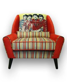 The Beatles Armchair Andrew Martin fabrics by JustinaDesign, £625.00