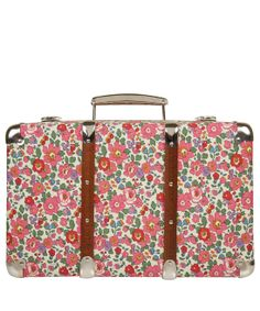 Betsy Liberty Print Miniature Suitcase -- Liberty London $65.00