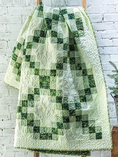 Traditional Lap Quilt & Throw Patterns - EXCLUSIVELY ANNIE'S QUILT DESIGNS: Irish Fairway Quilt Pattern