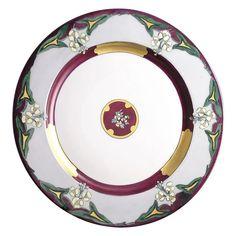 581da12fdea1e Limoges  Mark 6  Enameled Floral Design Plate Charger (c.1920-1930)