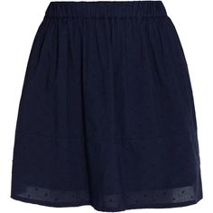CHINTI & PARKER Cotton Dot Mini Skirt ($149) ❤ liked on Polyvore