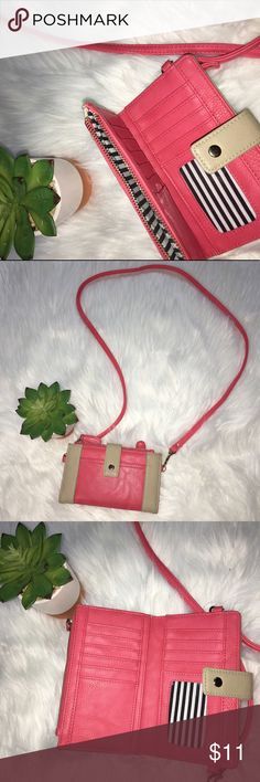 Pink Charming Charlie Cross Body Wallet Very Cute wallet in great Condition Only Used A Couple Times charming Charlie Bags Wallets