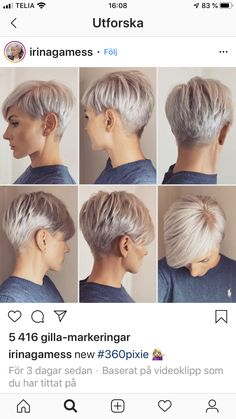 Edgy Short Hair, Super Short Hair, Short Hair Cuts For Women, Short Hair Styles, Haircut For Thick Hair, Pixie Haircut, Blonde Pixie Hair, Short Hair Images, Sassy Hair