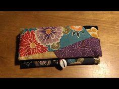 一枚の布を折って作る一番簡単な長財布の作り方♪小銭入れカード入れ付き - YouTube