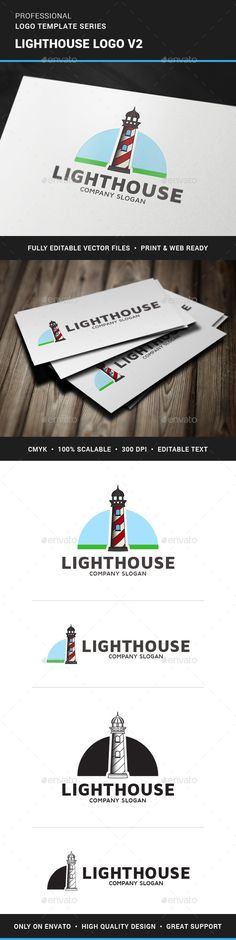 The Lighthouse Logo Template v2A modern and creative logo with a lighthouse for many kinds of business. The logo is fully vector
