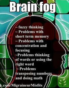 Brain fog......this has become a major problem for me.
