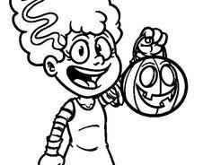 Dibujo de Disfraz de Halloween para colorear