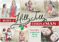 Jolly Memories - Flat Holiday Photo Cards - Umbrella - Sandstone - Neutral : Front