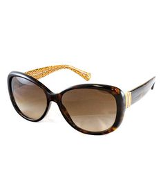 Dark Tortoise Gold Band Sunglasses by Coach Sunglasses & Opticals// normally $270 on sale for $119 #coach #designer