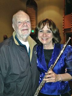 Debra Silvert with her flutemaker Jack Moore after the May 20, 2015 concert.