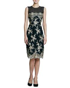 ~ Living a Beautiful Life ~ Sleeveless Lace Cocktail Dress by Kalinka at Bergdorf Goodman.