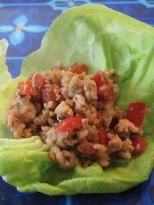 Stir-Fried Chicken in Lettuce Cups | Weelicious    Made this and another family hit. served with 1/4 cup brown rice and 1 cup green beans