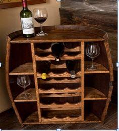 how to build a wine barrel wine rack