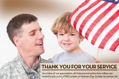 Take your Mommy and/or Daddy to free out to eat & thank  them for all they do for our freedom....