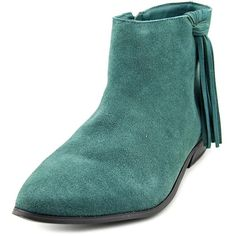 Coconuts By Matisse Cody Women Dress ($38) ❤ liked on Polyvore featuring shoes, boots, ankle booties, green, short boots, coconuts by matisse boots, faux-fur boots, green boots and coconuts by matisse