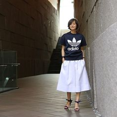 #outfit Navy×White