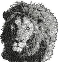 Lion free machine embroidery design. Machine embroidery design. www.embroideres.com