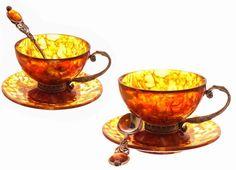 Baltic amber tea set