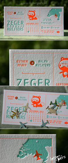 letterpers_letterpress_geboortekaartje_zeger_wasbeertje_relief_fluor