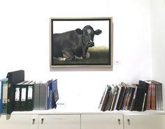 'Hannah the Cow', oil on canvas, 60 x 80 cm