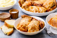This recipe for Serbian stuffed cabbage is known as sarma that is made with a filling of ground beef, pork, and rice and baked on a bed of sauerkraut. Bosnian Recipes, Bulgarian Recipes, Croatian Recipes, Bulgarian Food, Ukrainian Recipes, Cabbage Recipes, Beef Recipes, Cooking Recipes, Yummy Recipes