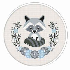 (# P- Baby Raccoon Cross Stitch, Nursery Cross Stitch, Animal cross stitch pattern. - Buy 2 get 1 free. Raccoon by CrossStitchByGlazov - Modern Cross Stitch Patterns, Counted Cross Stitch Patterns, Cross Stitch Designs, Cross Stitch Embroidery, Embroidery Patterns, Bear Patterns, Amigurumi Patterns, Knitting Patterns, Cute Cross Stitch