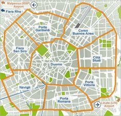 Milan Zone Map Inspiration Pinterest Milan Lyon france and