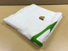 "AUTHENTIC Apple Beach Towel w colorful Apple letters fr Apple Computer 68"" x 36"""