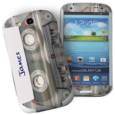 Personalised Cassette Samsung Galaxy S3 Phone Skin  from Personalised Gifts Shop - ONLY £7.95