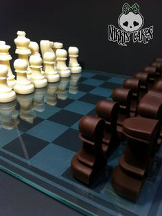 Cake in Shape of Chess Board and Pieces